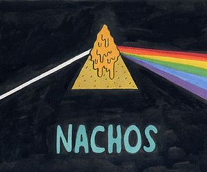 nachos, Pink Floyd, and funny image
