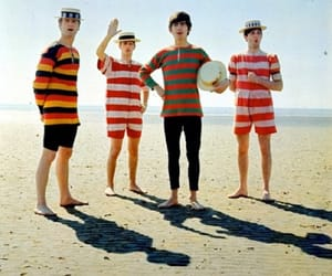 the beatles, beach, and beatles image