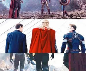 captain america, heroes, and thanos image