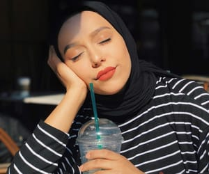 girls, hijab fashion, and حجاب image