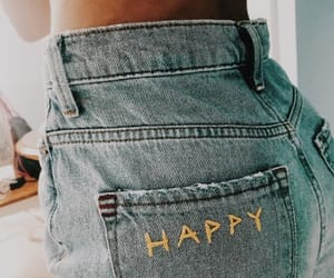 jeans, happy, and fashion image