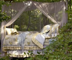 bed, nature, and vintage image