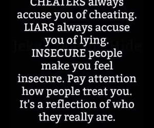 insecure, liar, and cheater image