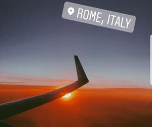 airplane, place, and rome image