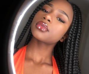 beauty, girl, and lipgloss image