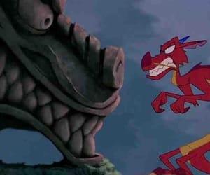 mulan, disney, and dragon image