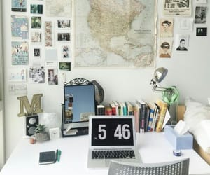 room, decor, and book image