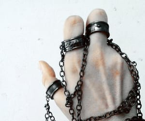 chains, aesthetic, and rings image