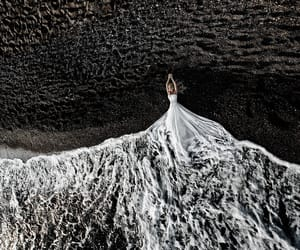 sea, white, and bride image