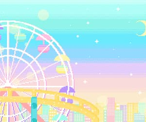 carnival, cotton candy, and ferris wheel image