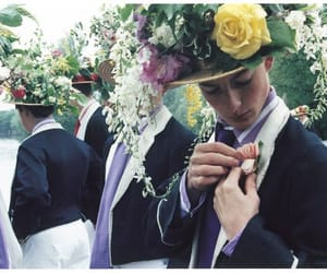boys, fashion, and flowers image