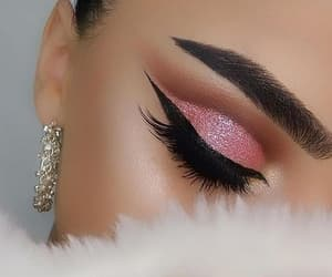 beauty, cool, and eyelashes image