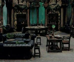 green, harrypotter, and slytherin image