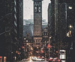 city, wallpaper, and rain image