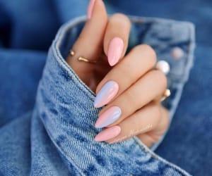 nails, fashion, and makeup image