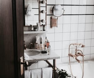 decor, relax, and badroom image