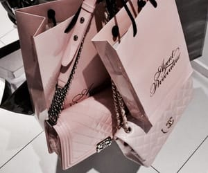 pink, bag, and shopping image
