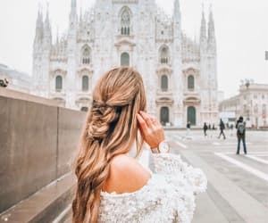 chruch, travel, and girl image