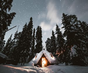 beautiful, night, and snow image