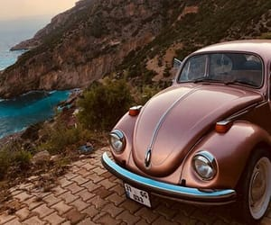 beetle, car, and mountains image