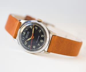 etsy, mid century watch, and silver watch women image