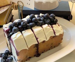 cake, sweet, and blueberry image