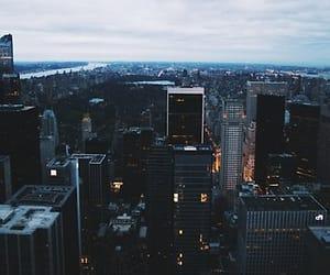 city, new york, and lights image