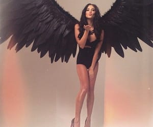 angel, black, and model image