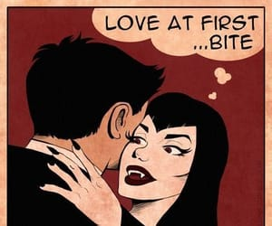 comic, vampire, and love image