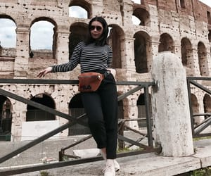 girl, style, and travel image