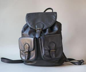 etsy, black backpack, and festival backpack image