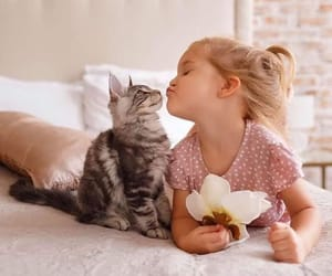 child, cute, and kiss image