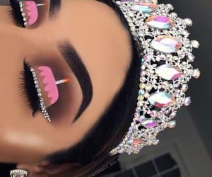 makeup, pink, and art image