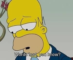 words, simpsons, and hurt image