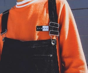 orange, fashion, and outfit image