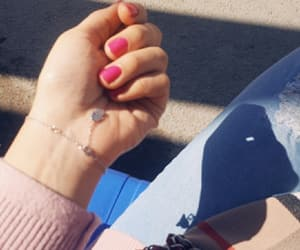 fashion, ongles, and pink image