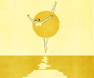 yellow, art, and dance image