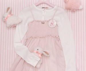 bunny, dress, and pink image