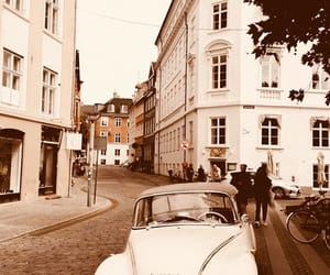 car, city, and vintage image