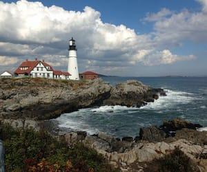 coast, Maine, and ocean image