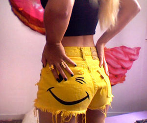 yellow, short, and smile image