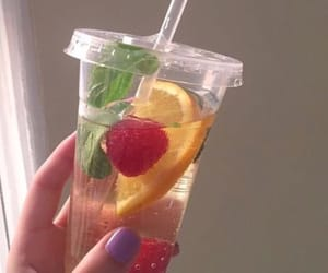 drink, aesthetic, and fruit image