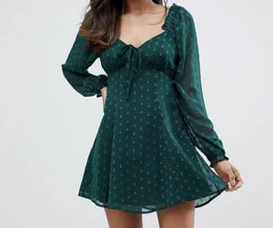 dress, fasion, and green image