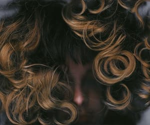 curly, girl, and grunge image