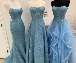 aesthetic, beauty, and blue dresses image