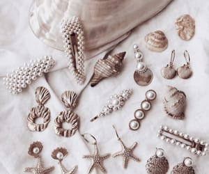 earrings, gold, and hair clips image