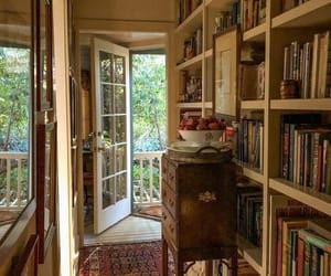books, home, and library image