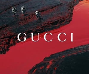 gucci, red, and aesthetic image