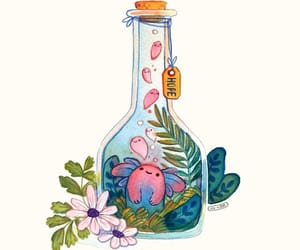 bottle, creature, and hope image