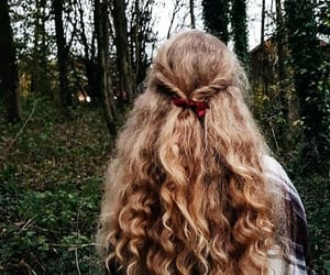 curly, girl, and girly image